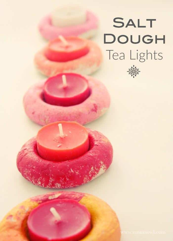 Salt Dough Tea Light Holders. These make the perfect Christmas Gift and Decoration