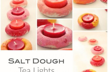 Salt Dough Tea Lights: Kids Craft Made Simple!