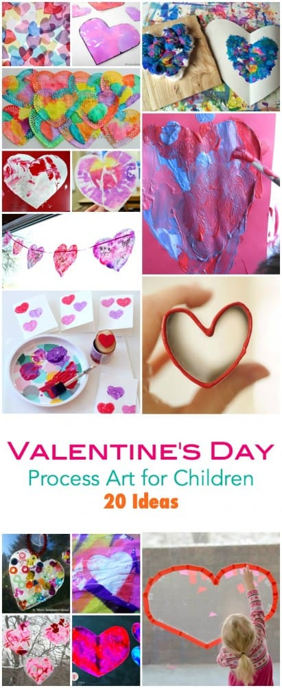 20 Valentines Day Process Art Ideas for Children. For Children who love to make and create! Make your own Valentines Cards - Decorations - Gifts - Art and More!