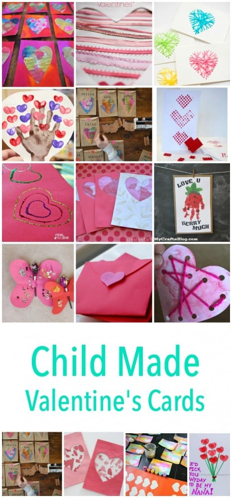 Child Made Valentines Day Card Craft project ideas! These make fantastic gift ideas to send to family and friends!