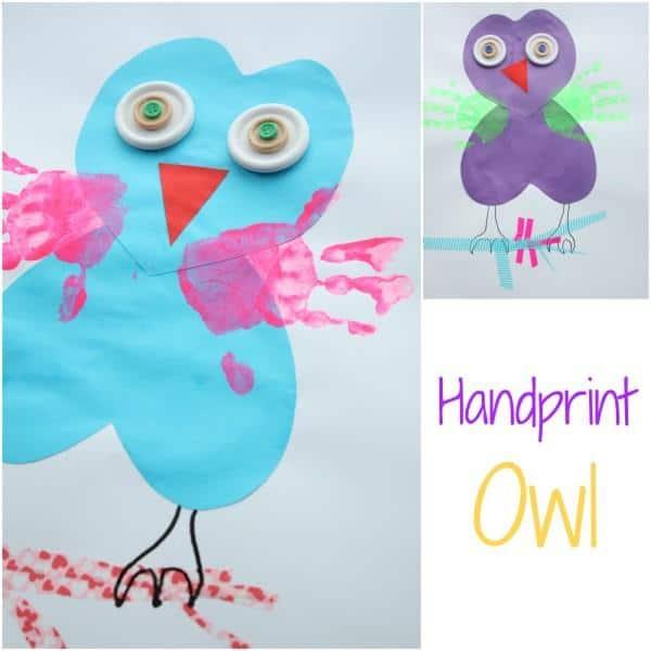 Kids Craft Handprint Owl