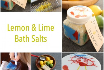 DIY Bath Salts – with Child Made Gift Jar