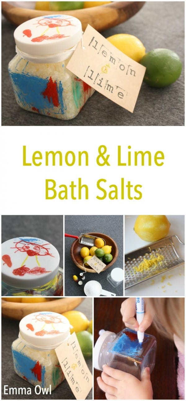 Lemon and Lime Bath Salts - Made for Mom on Valentines Day