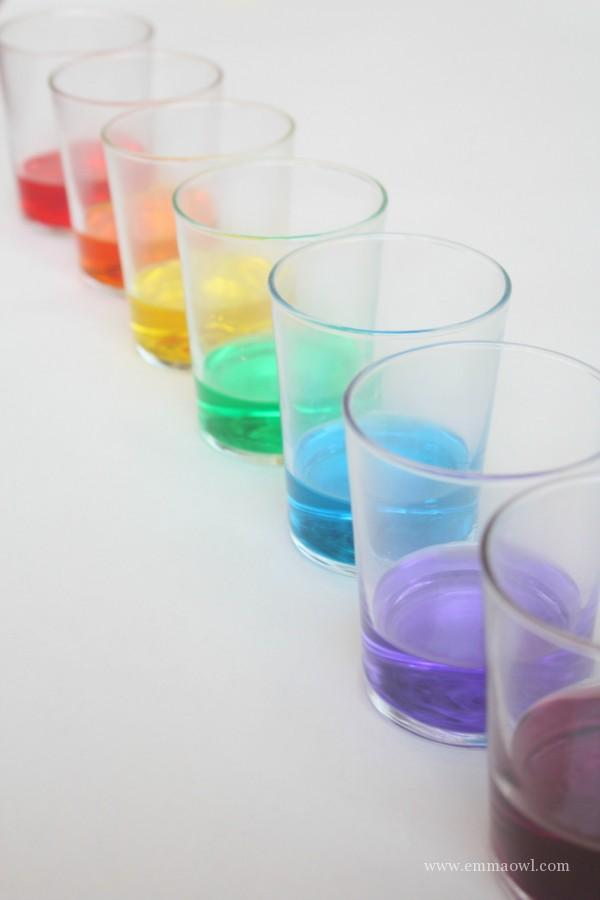 Liquid Watercolors - Painting Rainbows