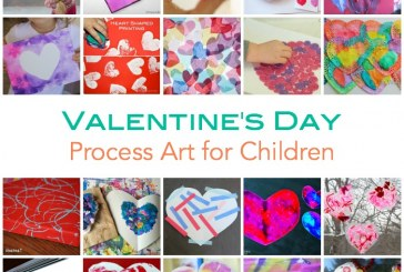 Valentine's Day Process Art Ideas for Children