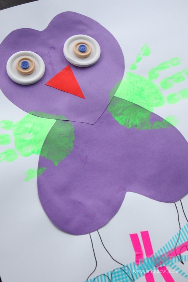 Valentines Handprint Owl