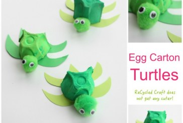 Egg Carton Turtle ReCycled Kids Craft