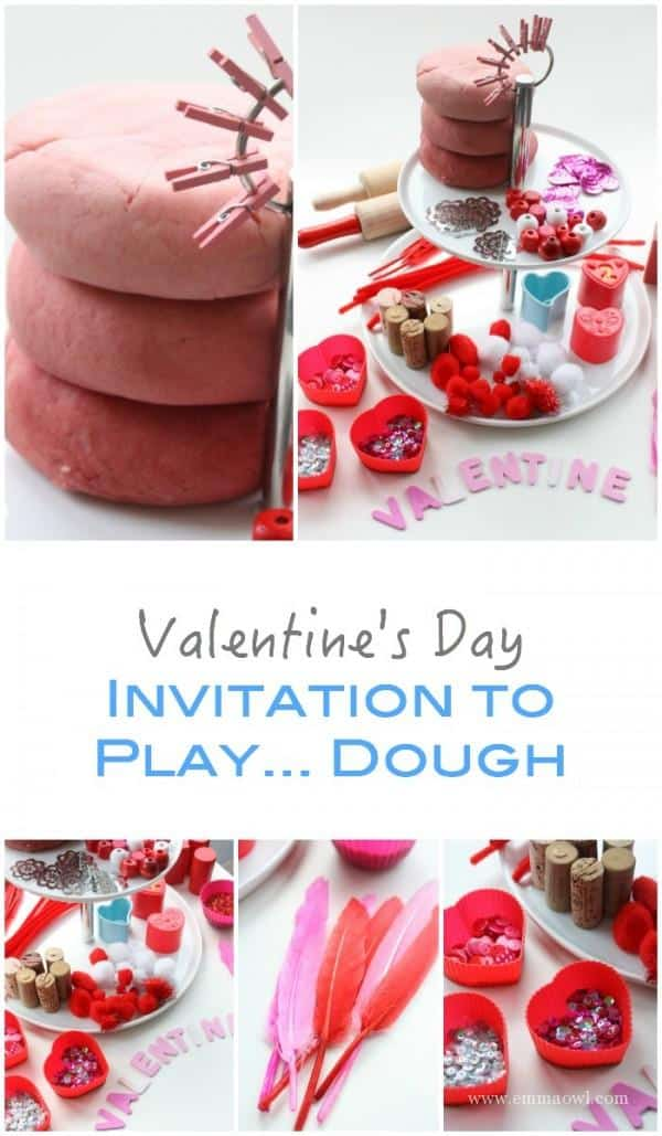 Play Dough Idea for Kids around Valentines Day - super sensory fun!