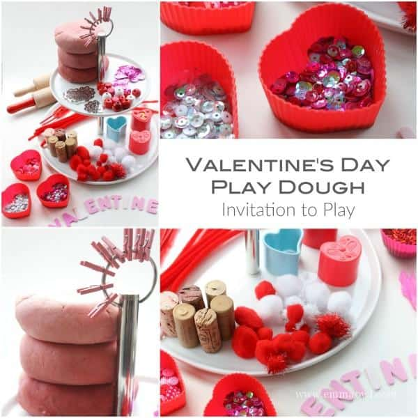 Valentines Day Play Dough Invitation to Play
