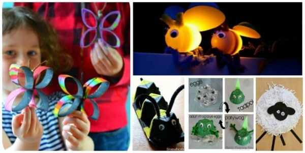 animals from recycled materials