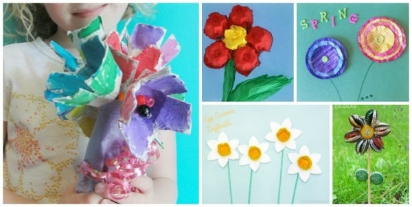 spring time recycled crafts for kids