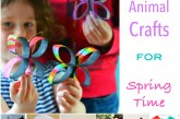 Animals- ReCycled Spring Crafts for Kids