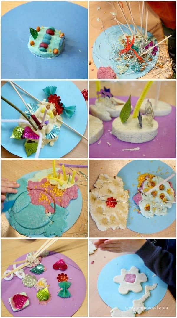 Winter Play Dough Themed Sensory Table