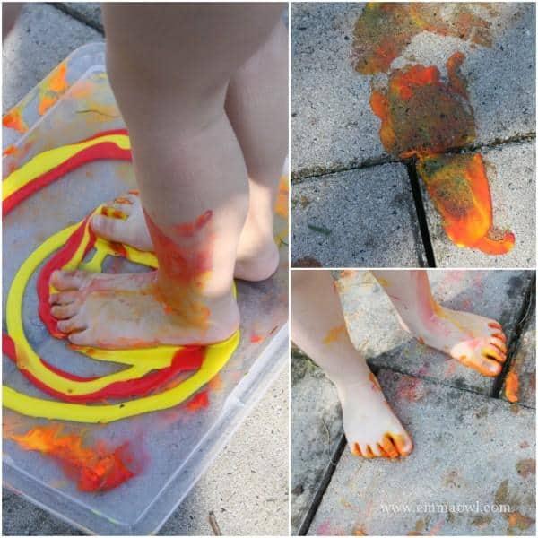 Duck feet Painting
