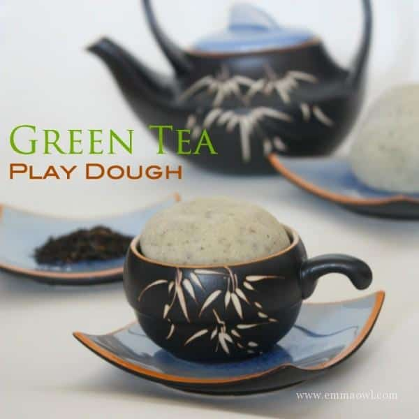 Green Tea PlayDough Recipe for Children