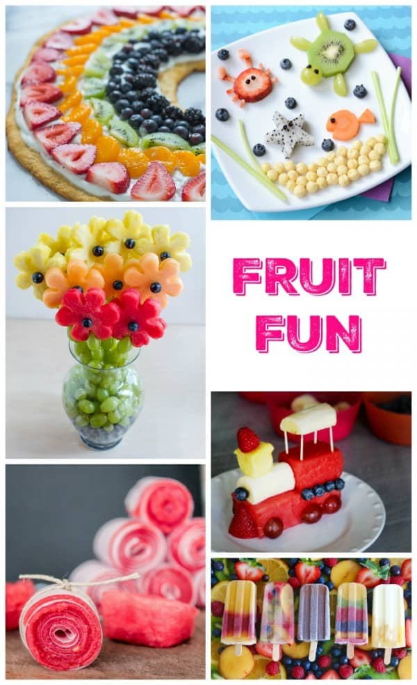More than 20 ideas to create the most brilliant fun fruit ideas for kids! Kids food does not get brighter!