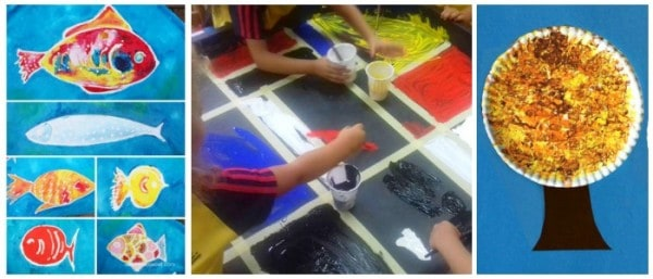 Many great ideas for kids painting here
