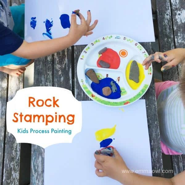 Rock Stamping - Kids Process Art