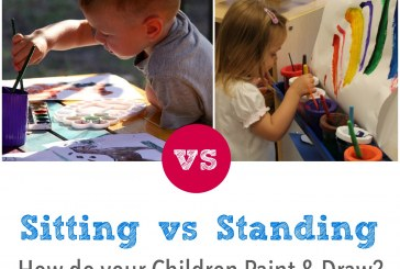 Sitting or Standing? The best way to paint and draw…