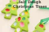 Fingerprint Salt Dough Christmas Trees