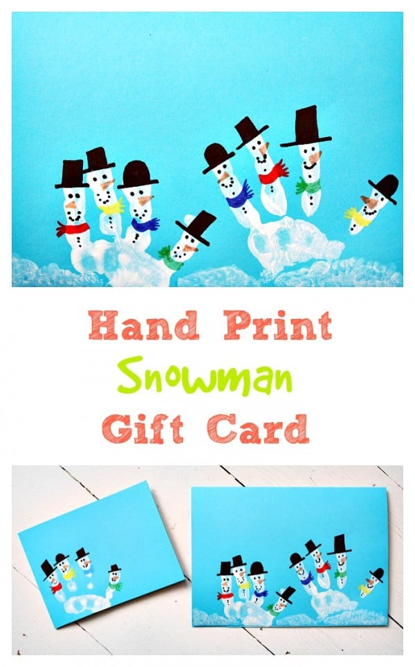 hand-print-snowman-gift-card-christmas-art-and-craft-idea