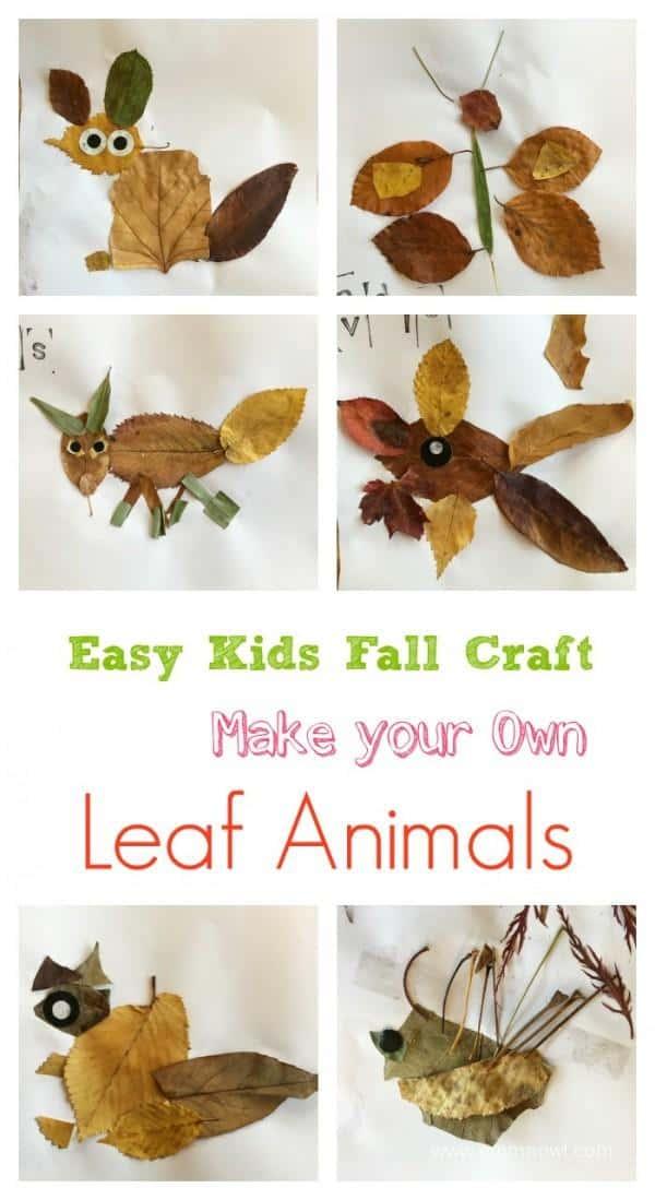 Leaf Animal Craft For Kids Emma Owl