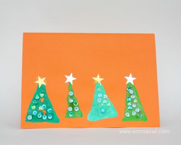 sponge-painted-christmas-trees