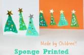 Easy Sponge Printed Christmas Card