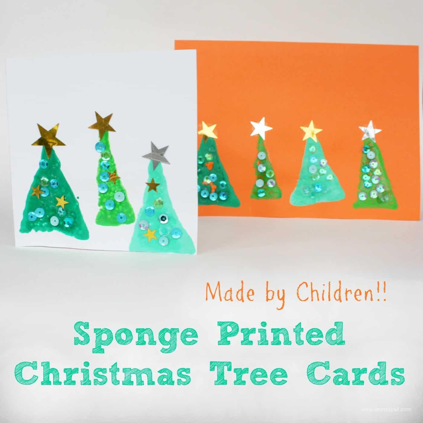 Easy Sponge Printed Christmas Card - Emma Owl
