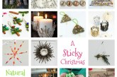 Kids Natural Sticky Christmas Crafts