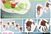 Flying Handprint Reindeer Craft