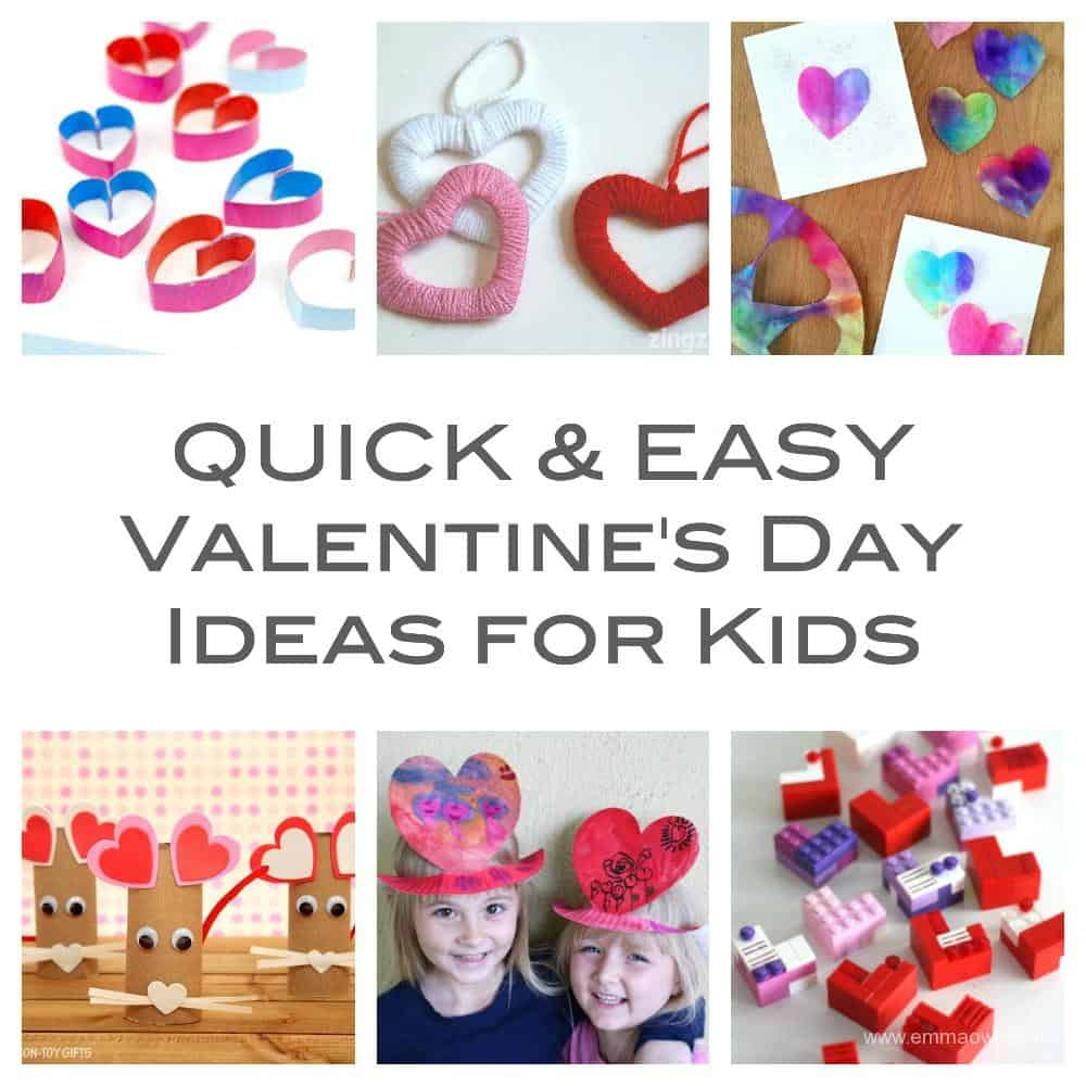 Quick And Easy Valentine's Crafts For Kids