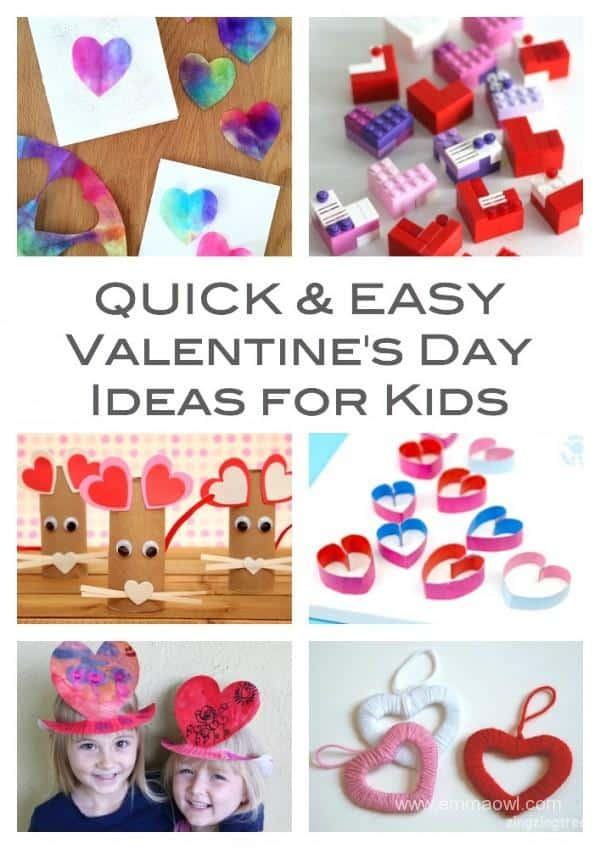 Quick and Easy Valentines Ideas for Kids