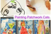 Painting Patchwork Cats with Kids
